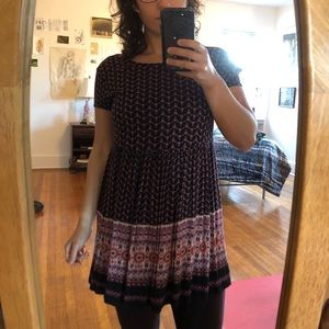 Whimsical patterned tunic dress